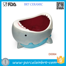 Venta al por mayor Cute Shark Attack Ceramic Bowl